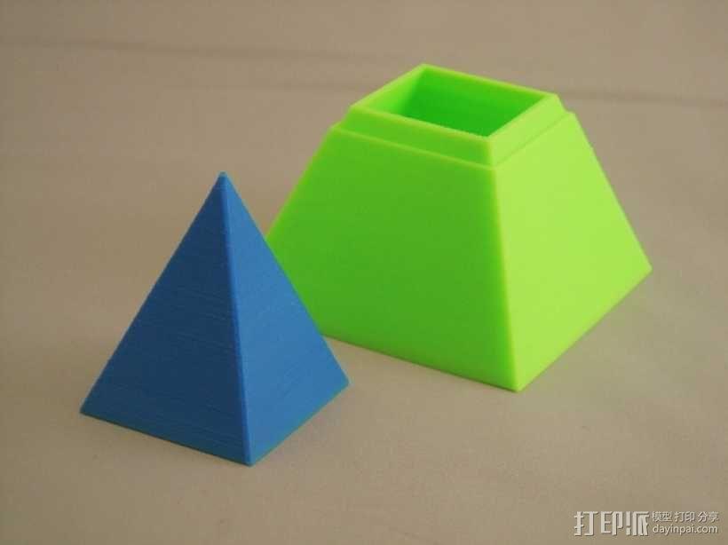 金字塔形储物盒 3D模型  图5