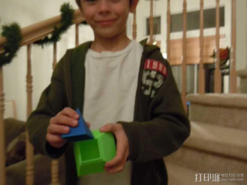 金字塔形储物盒 3D模型  图3