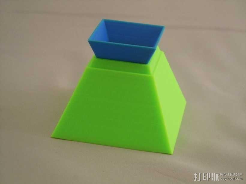 金字塔形储物盒 3D模型  图6
