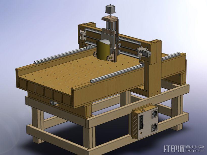 AXIS数控机床 3D模型  图6