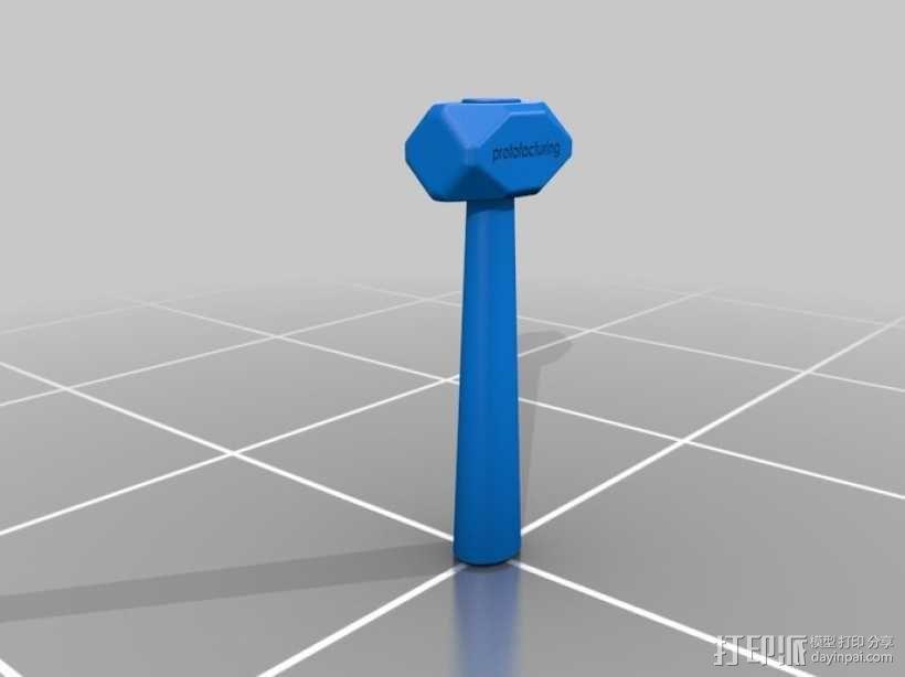 锤子 3D模型  图2