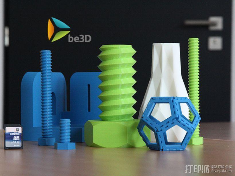 螺丝钉和螺母 3D模型  图2