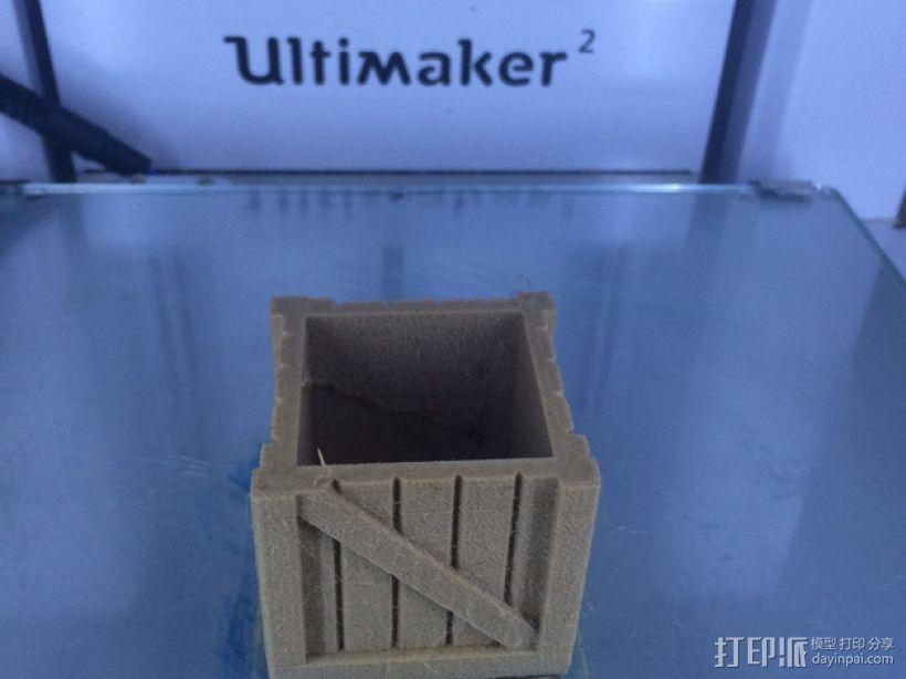 有盖子的小板条箱 3D模型  图4