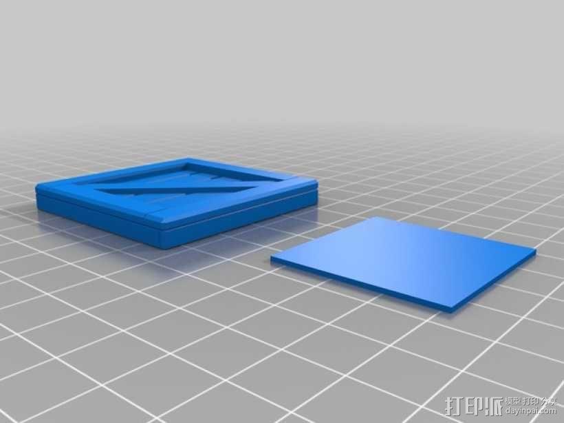 有盖子的小板条箱 3D模型  图5