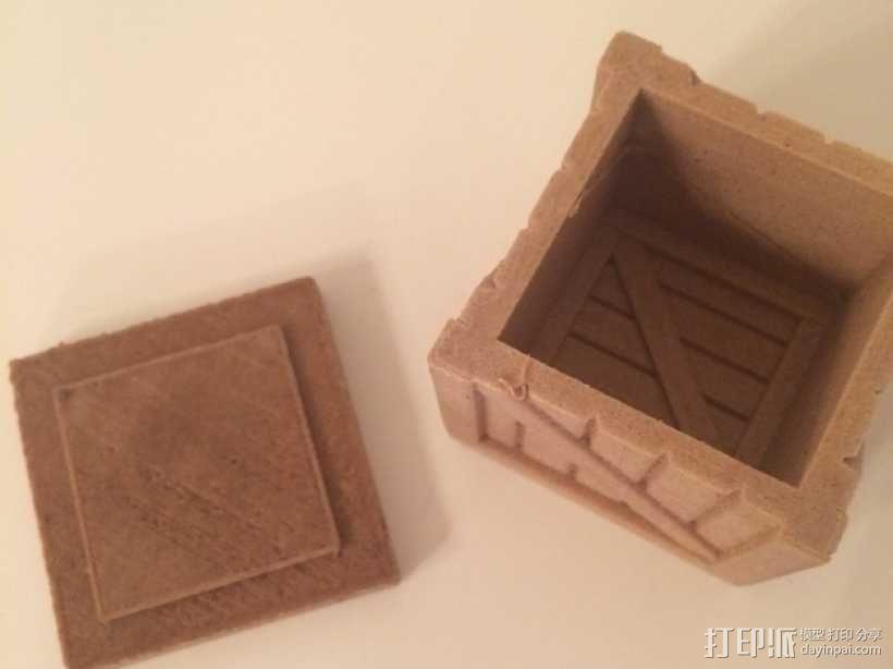 有盖子的小板条箱 3D模型  图2