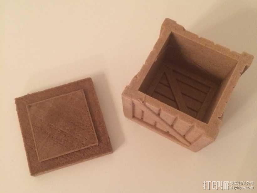 有盖子的小板条箱 3D模型  图8