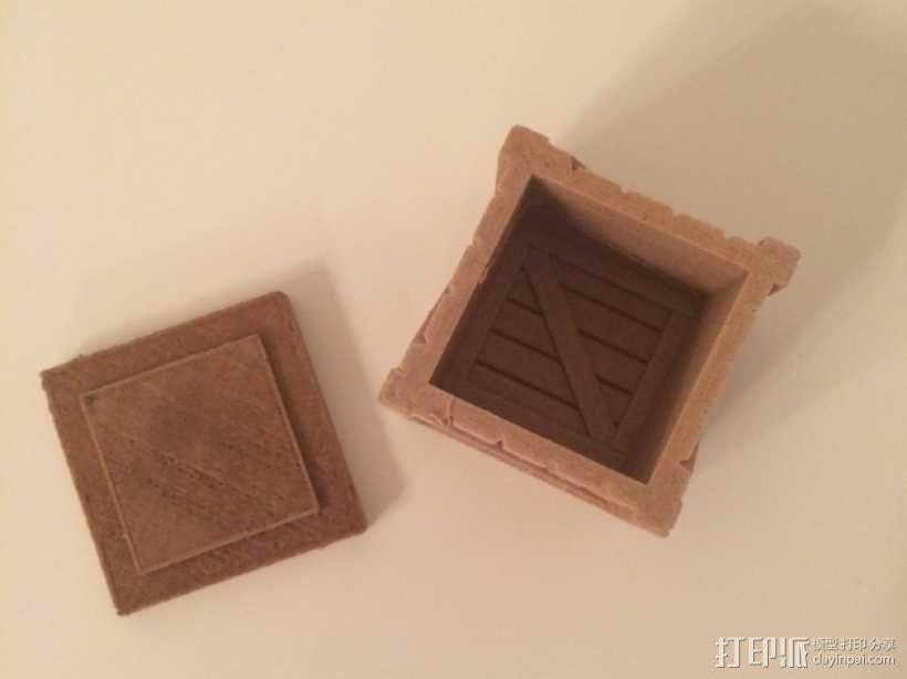 有盖子的小板条箱 3D模型  图9