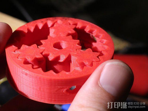 齿轮形软管泵 3D模型  图1
