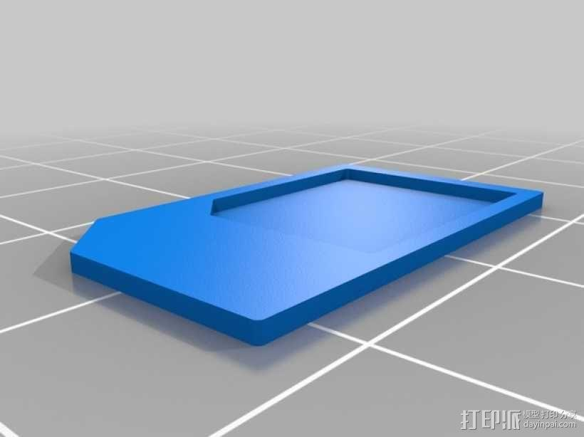 SIM卡套 3D模型  图3