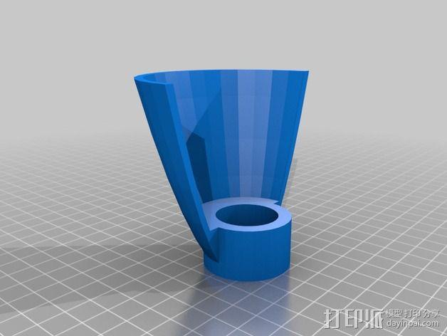 打磨机防护盾 3D模型  图2