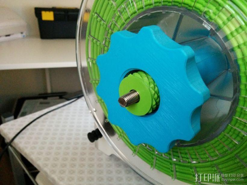 滚花式旋钮螺母 3D模型  图4