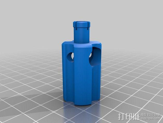 微型钓竿 3D模型  图3