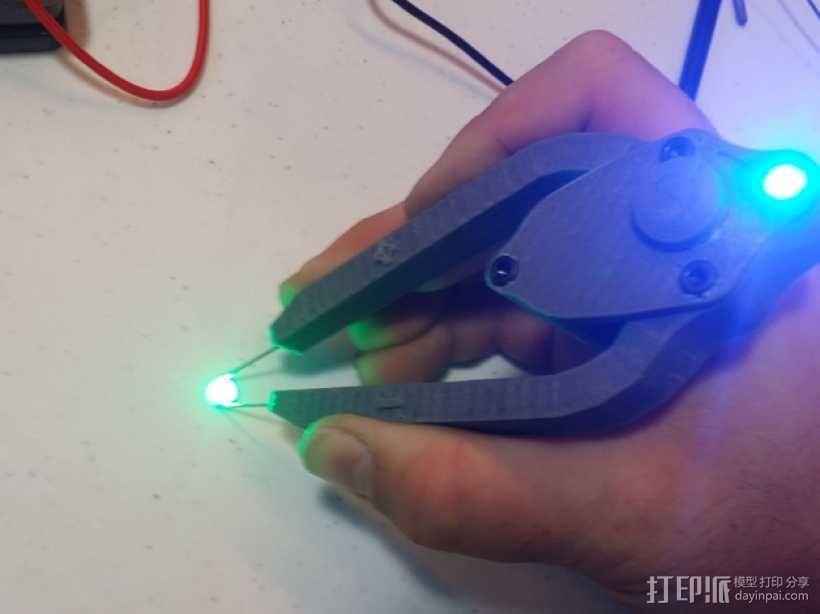 LED灯测试钳 3D模型  图1