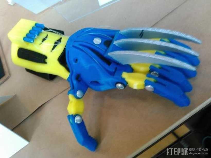 狼爪 假肢 3D模型  图5