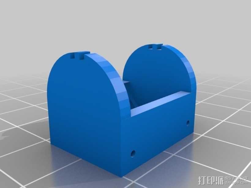纽扣电池 电池盒 3D模型  图2
