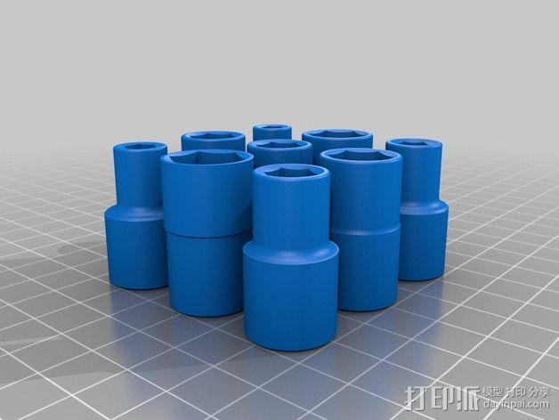 螺钉 扳手配件 3D模型  图3