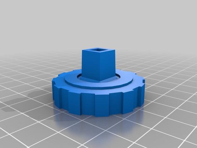 螺帽手柄 3D模型  图2