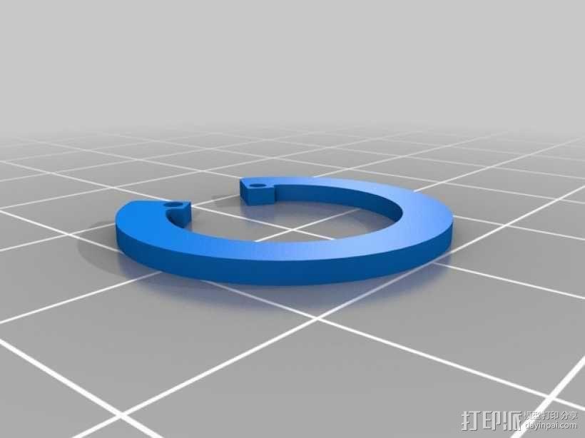 弹簧环 3D模型  图2