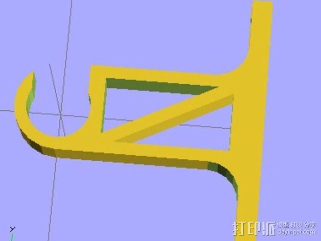水管架 3D模型  图2