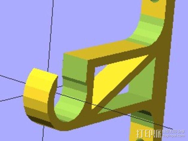水管架 3D模型  图3