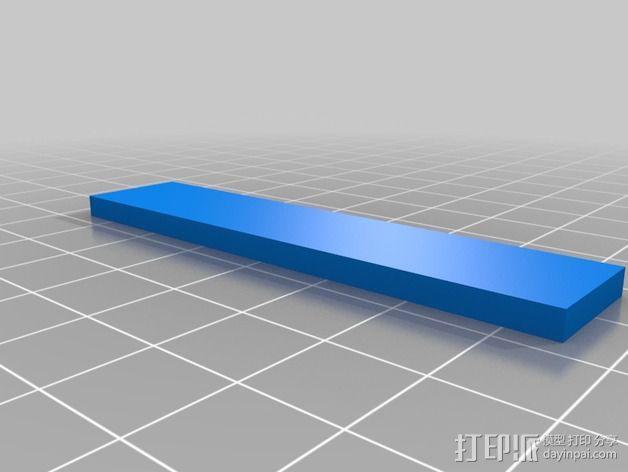 打磨机挡板 3D模型  图3