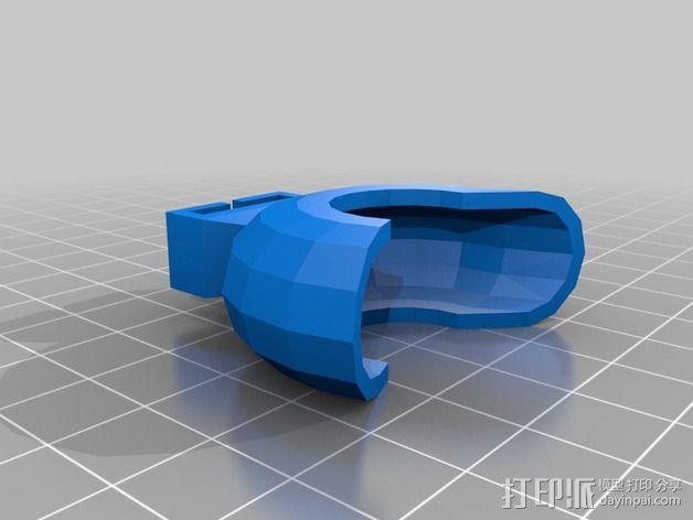 打磨机挡板 3D模型  图4