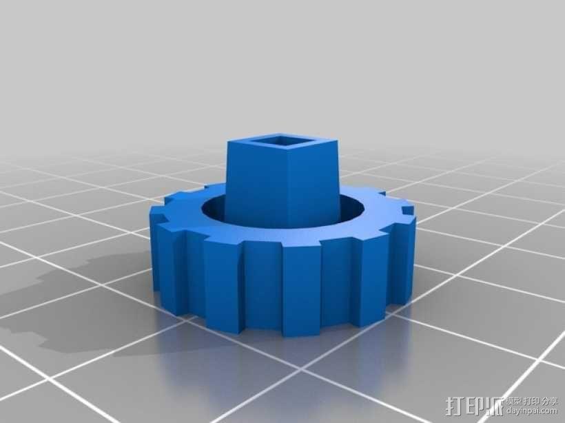 螺帽手柄 (6.35mm) 3D模型  图2
