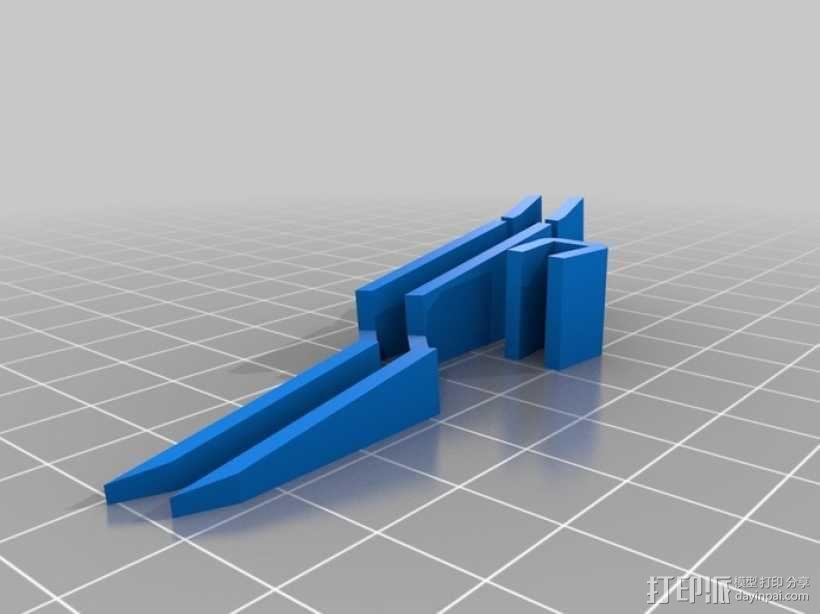 交叉镊子 3D模型  图1