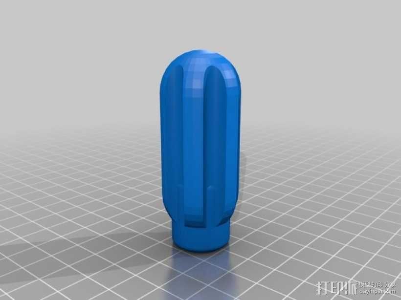 螺母起子手柄 3D模型  图2