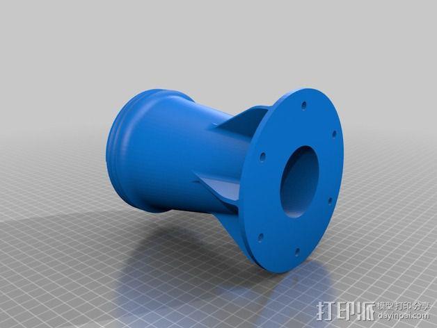 旋风分离器 3D模型  图2