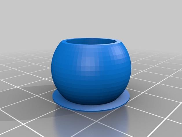 双线激光笔 笔架 3D模型  图2