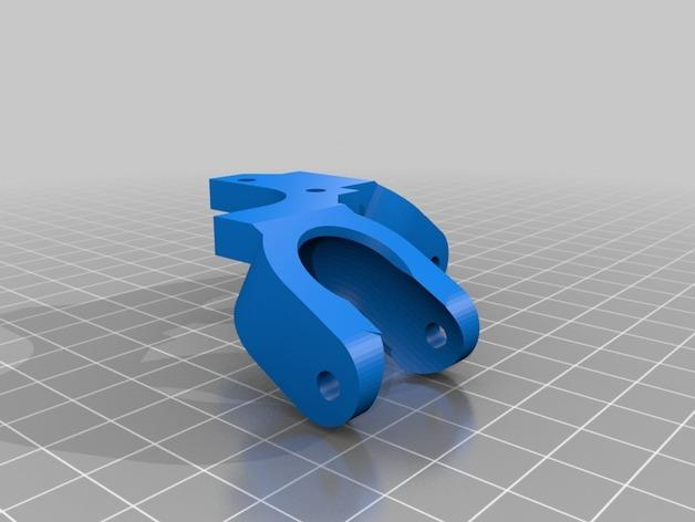双线激光笔 笔架 3D模型  图3
