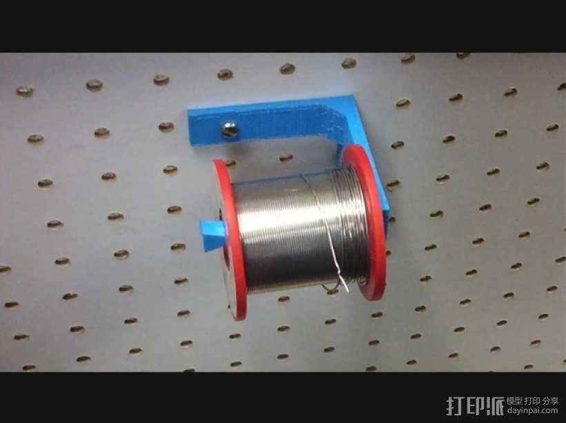 焊辊支架 3D模型  图1