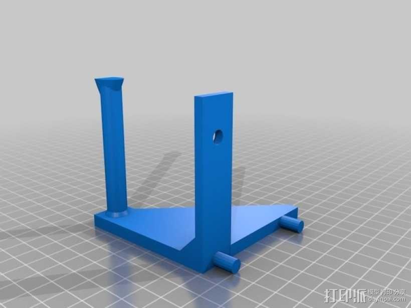 焊辊支架 3D模型  图2