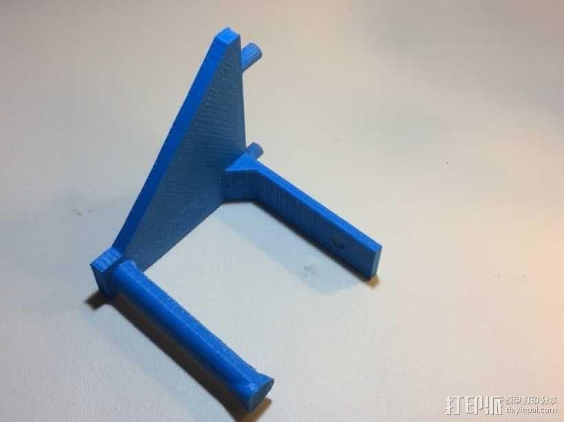 焊辊支架 3D模型  图4