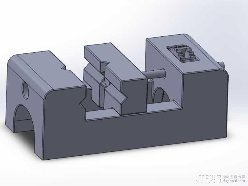 台钳 3D模型  图2