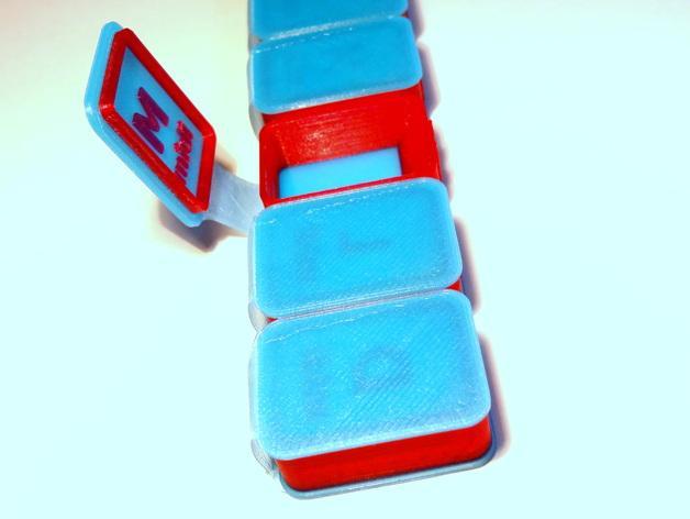 药丸盒 3D模型  图1