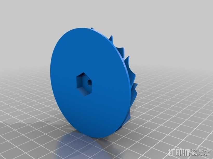 12v直流电动涡轮电机 3D模型  图9