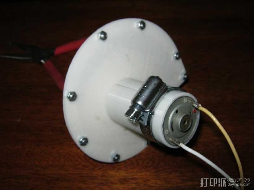 12v直流电动涡轮电机 3D模型  图7