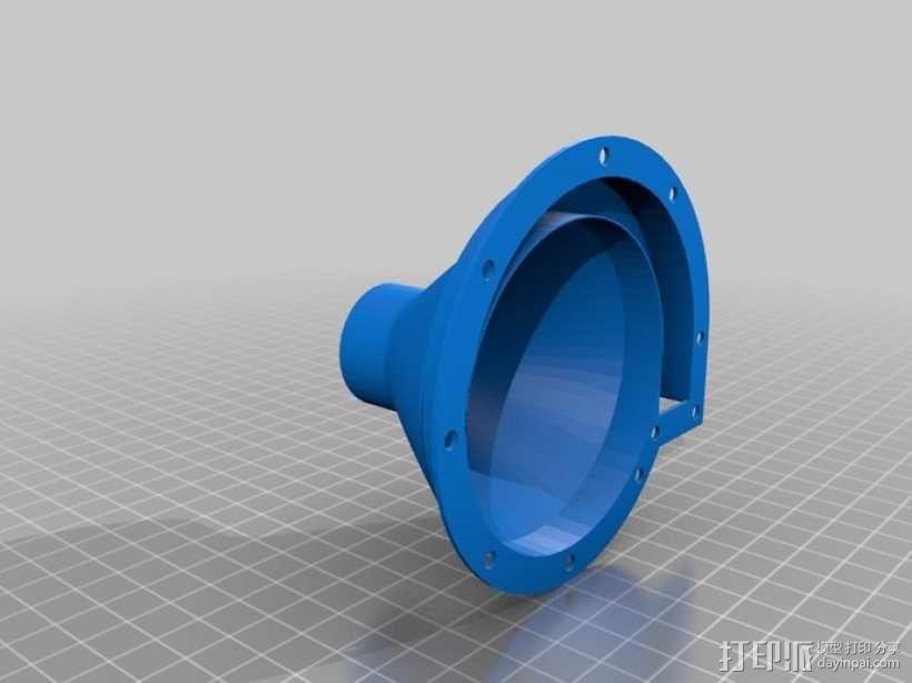 12v直流电动涡轮电机 3D模型  图10