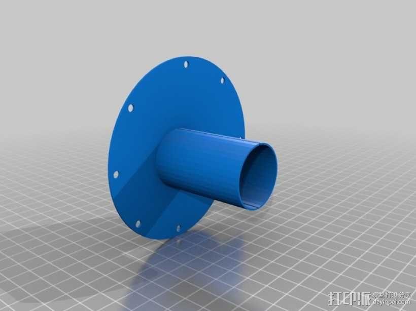 12v直流电动涡轮电机 3D模型  图11