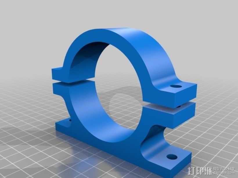 AndyMark CIM发动机架 3D模型  图1
