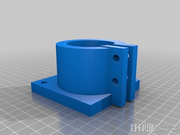 钻头马达保护架 3D模型  图1