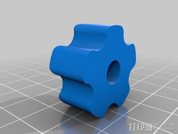1/4 英寸螺栓或螺母 旋钮 3D模型  图2
