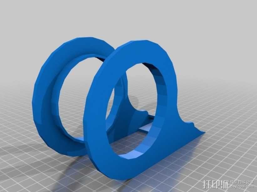 胶带分割器 3D模型  图2