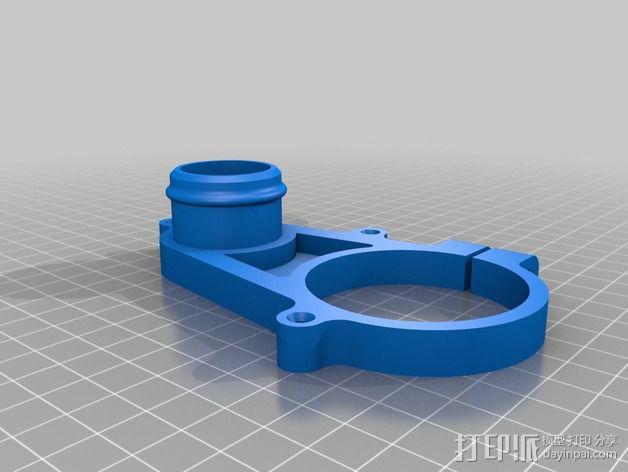 数控雕刻机真空配适器 3D模型  图2