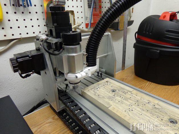数控雕刻机真空配适器 3D模型  图4