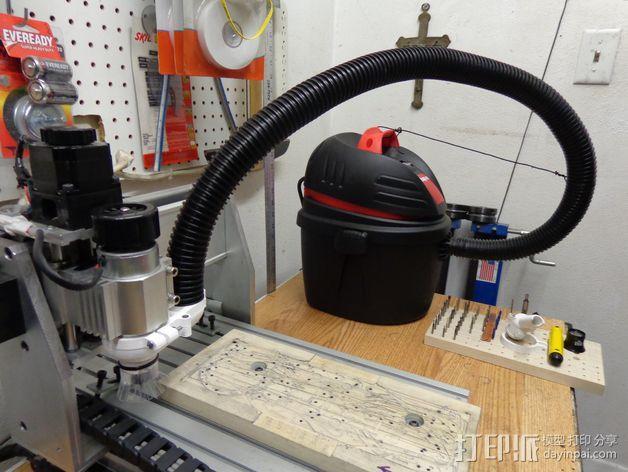 数控雕刻机真空配适器 3D模型  图5