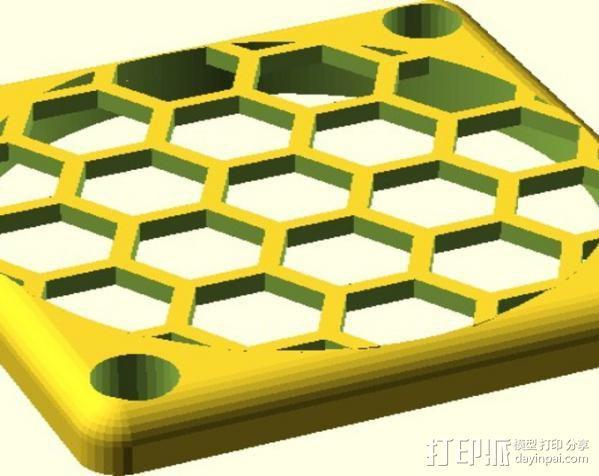 定制化风扇罩/过滤罩 3D模型  图6