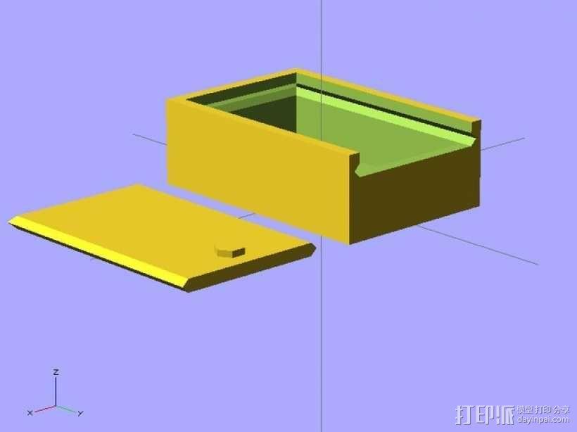 参数化滑动小盒 3D模型  图1